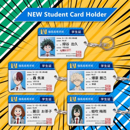My Hero Academia Todoroki Shouto Acrylic Student Card Holder Keychain Pendant
