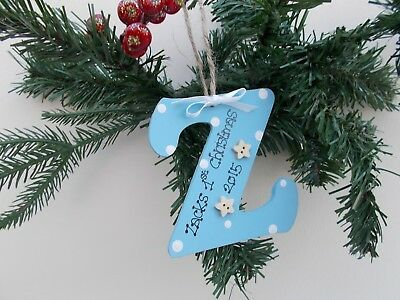 Personalizzata Bambino 1st Decorazione Albero Di Natale Regalo Ricordo- In Corto Rifornimento