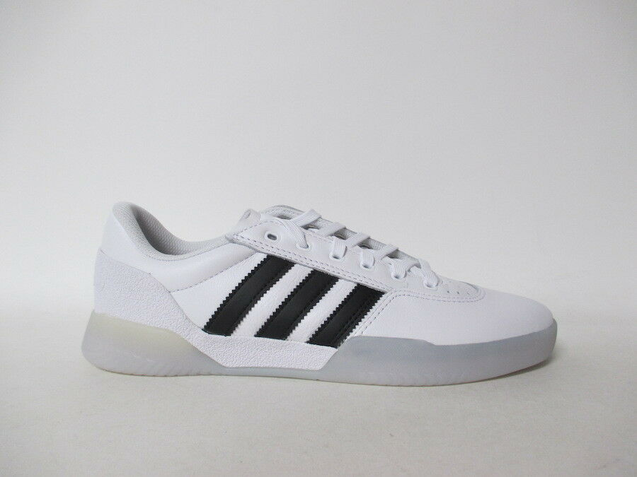 Adidas City Cup White Black Leather Ice Sole Sz 10.5 DB3075