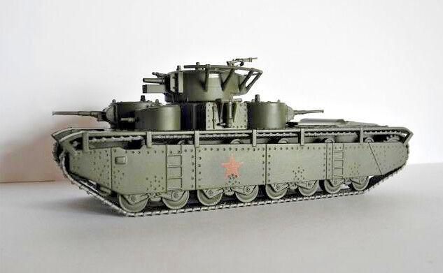 1 72 T-35 Soviet Tank WWII Die Cast model & Magazine Eaglemoss 18 Russian