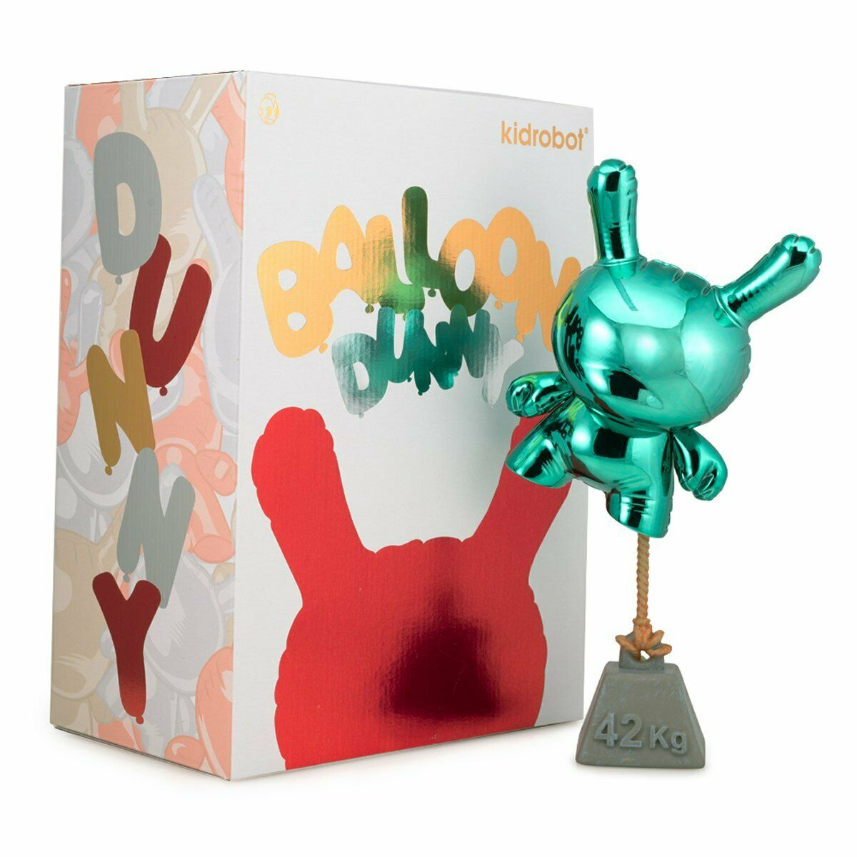 Kidrobot Balloon Dunny 8  Art Figure By Wendigo Toys Teal Edition LE200