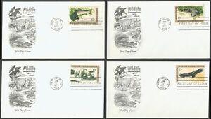 #1427-1430 8c Flora y Fauna Conservación, Artmaster FDC Cualquier 4=
