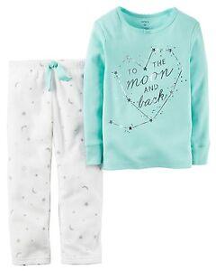 2-Piece Pajama Set Adorable Fleece Pajamas For Girls