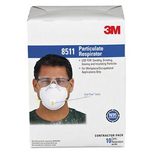 3M-Particulate-Respirator-w-Cool-Flow-Exhalation-Valve-10-Masks-Box-8511