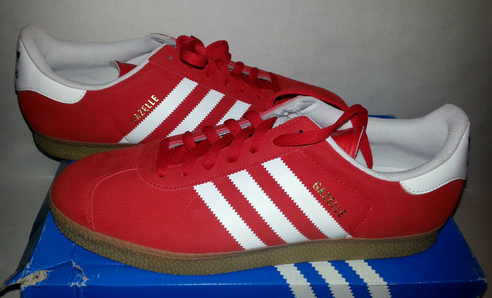 ADIDAS ORIGINALS CLASSIC GAZELLE 2 RED/GUM MENS SHOES    SIZE 13 0f9102