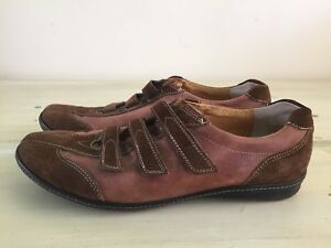 PAUL-GREEN-Munchen-Brown-Suede-Leather-Casual-Sneakers-Shoes-Womens-8