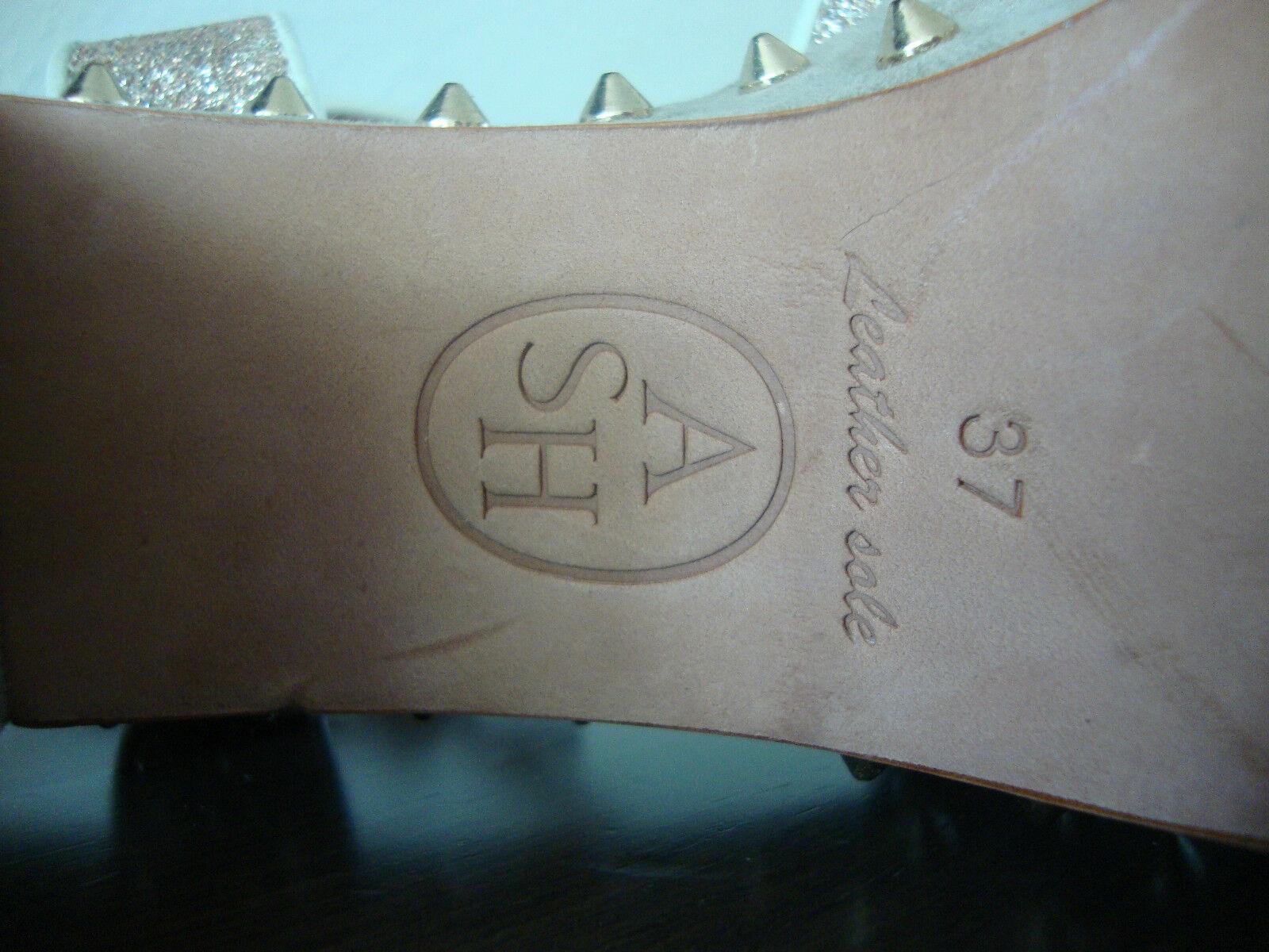 ASH CAPRICE Sandale Leder Schuhe Glitzer Damen Sandalette Sandalen Glitzer Schuhe Gold Gr.37 NEU fcb4e8