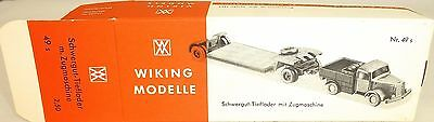 Model Building Toys, Hobbies Schwergut Low Loader With Tractor Box Empty Wiking 49s Å Last Elegant In Smell