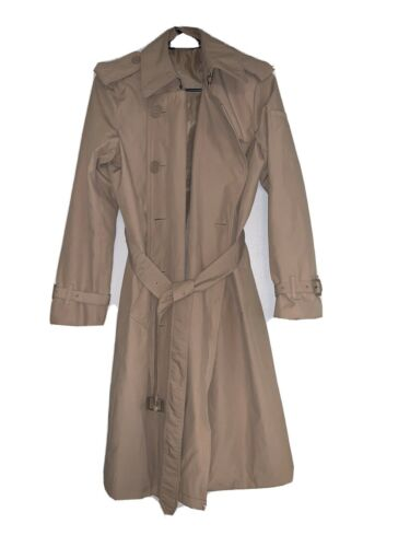 Norma Kamali Trench Coat Medium Belted Knee Length