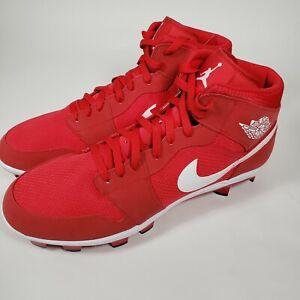 Details about Nike Air Jordan 1 Retro MCS University Red Baseball Cleat AV5354-601, Men's 15