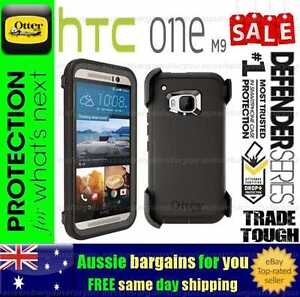 new york 70273 2be1e Details about Otterbox Defender HTC One M9 Black Genuine Case Cover Trade  Tough Strong Duty