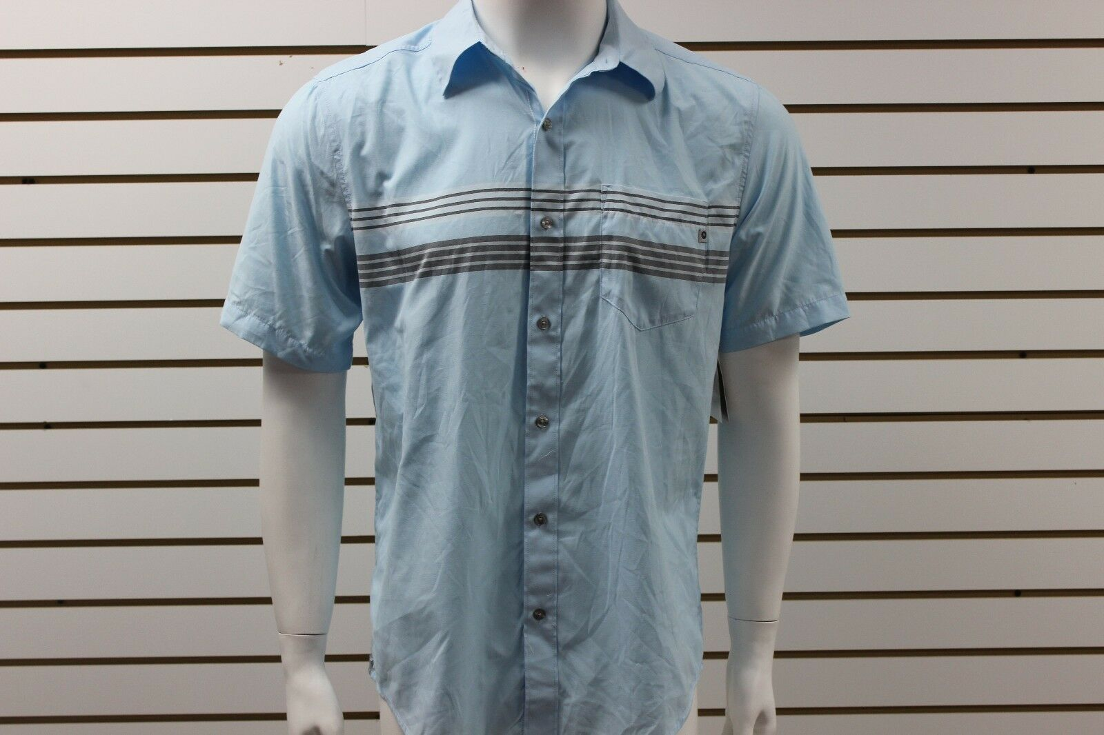 Men's Marmot Vista Short Sleeve Striped Shirt Air bluee 53080 Brand New With Tag