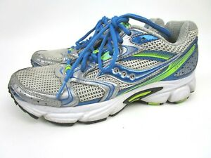 2db837ccd80c Saucony Cohesion 5 Womens Sz 6.5 Running Shoes Green Blue Silver ...