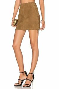 3f3007de39 Image is loading LPA-56-SUEDE-LACE-UP-MINI-SKIRT-XSMALL