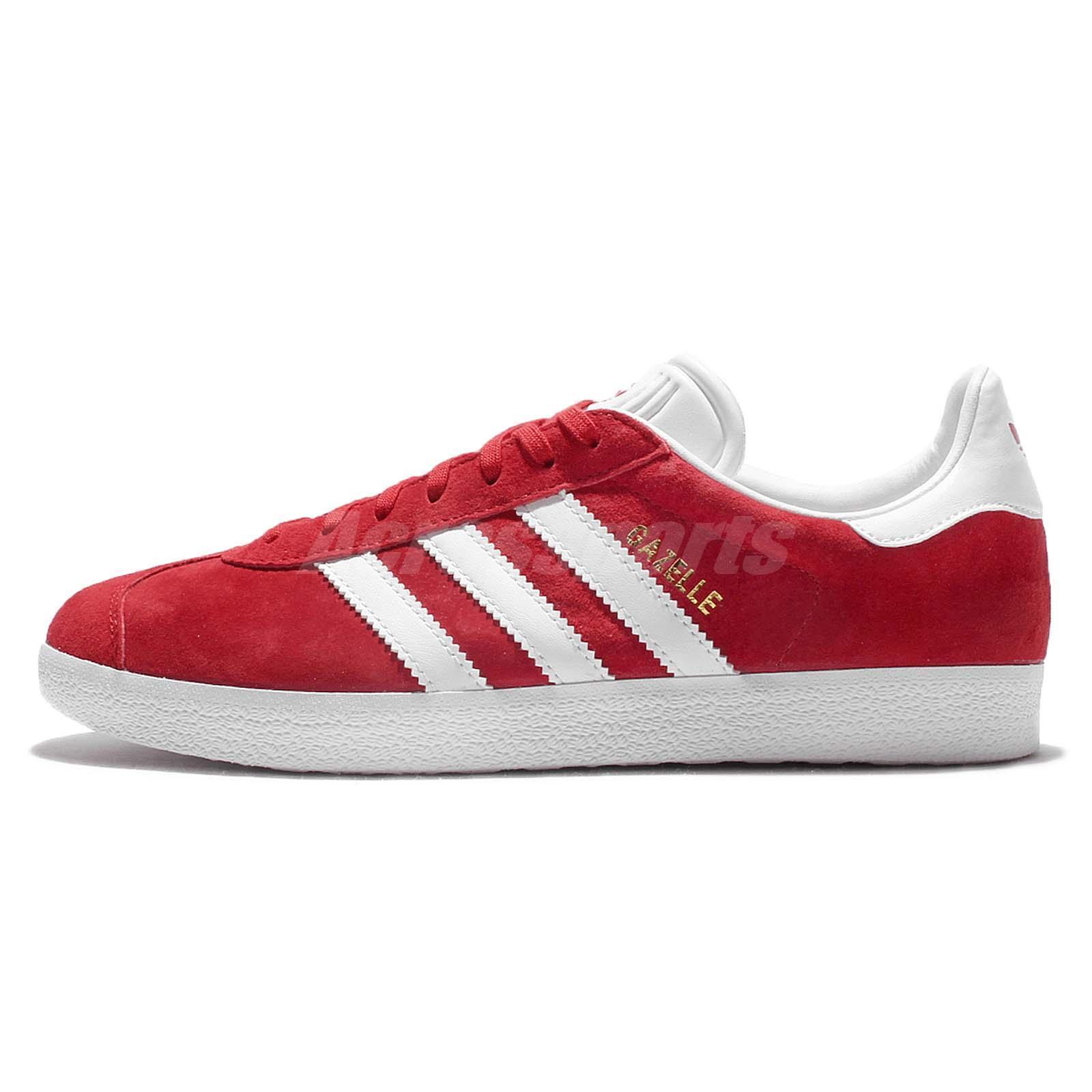 Adidas Zapatos Originals Gazalle Rojo Blanco para Hombre Zapatos Adidas Tenis Clásico S76228 Vintage dd1279