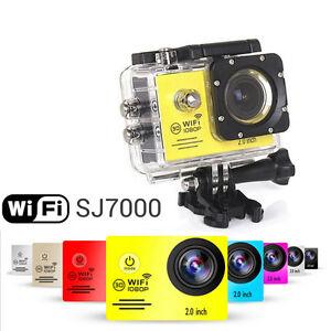 Yellow-SJ7000-Camera-Camcorder-WiFi-HD-1080P-2-0-039-LCD-12MP-Screen-Sport-DV-New