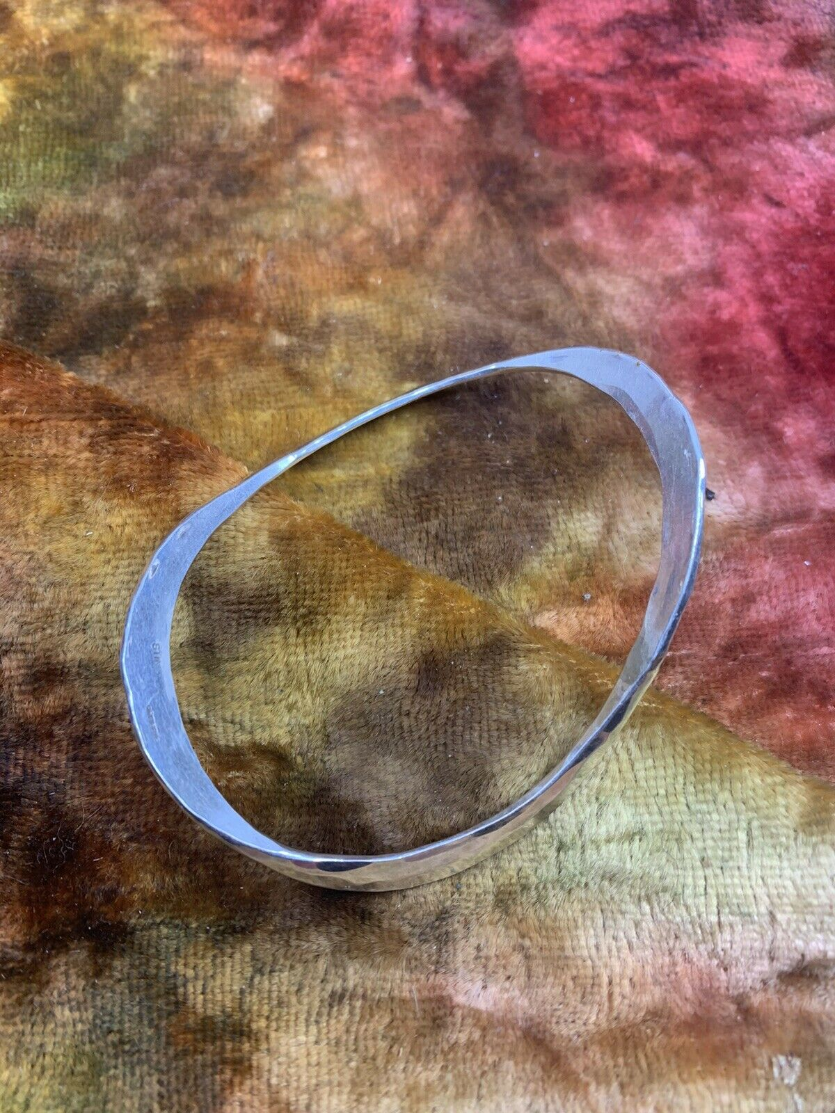 STINN STERLING MODERN MID CENTURY HAMMERED BRACEL… - image 1