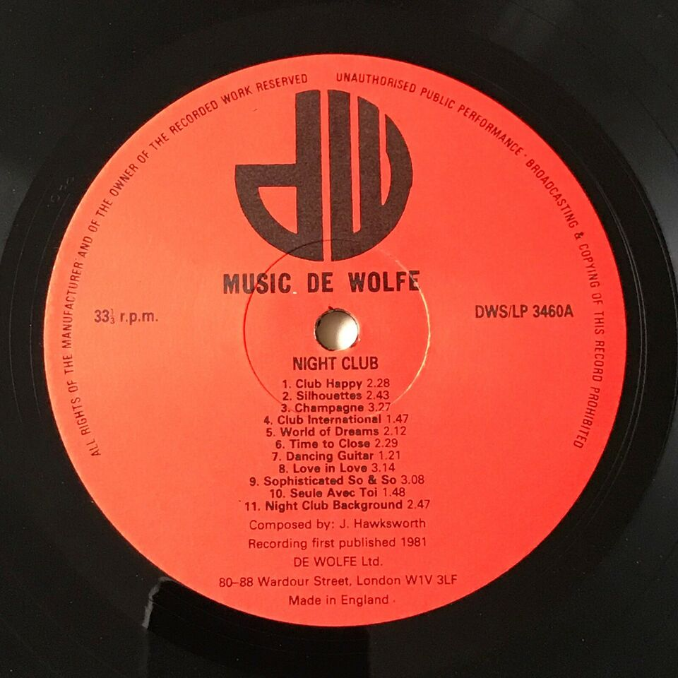 "LP, ""Small Group Music"", Night Club"