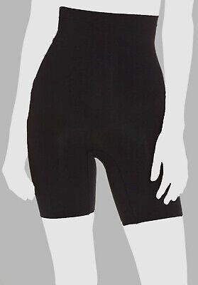 SPANX Womens Power Mid-Thigh Shaper Shorts Very Black