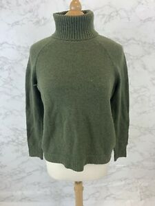 Details about J Crew Women's Green Turtleneck sweater in supersoft yarn AF023 $95