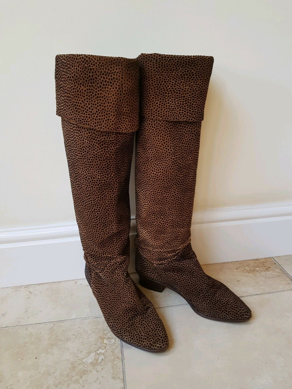 Mesdames marron Russell & Bromley Cuissardes Cuissardes Cuissardes Cuir Daim Bottes Taille 7 40 Excellent e88702