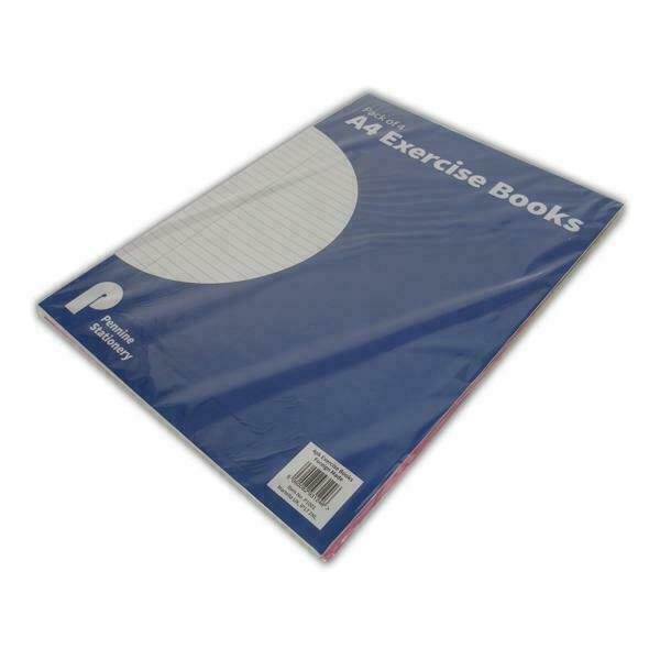 A4 Lined Paper With Margins 3x School Exercise Books
