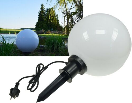 "e27 version 1,5 m Câble 230 V Boule De Jardin Lampe piquet /""ct-gl30cm/"" ip44"