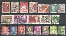 R522 - DANIMARCA  1961 - LOTTO USATI DIFFERENTI N°402/446 - VEDI FOTO