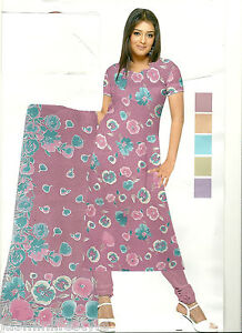 Cotone-A-Fantasia-Unstiched-Indiano-Pakistano-Shalwar-Kameez-Materiale-tessuto