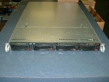 Supermicro 1U Server X9DBL-3F 2x Xeon E5-2420 1.9ghz 12-Cores 48gb 4xTrays Rails
