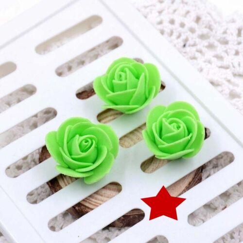 100//500 Foam 3cm Roses Wedding Craft Flower Party Decoration Favour 15 Colour UK