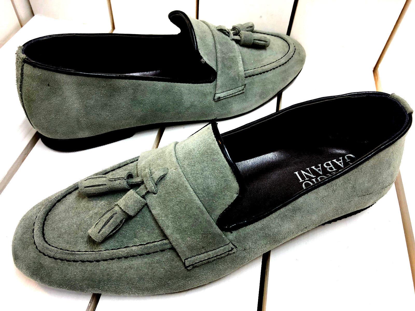 Giorgio Gabani Slipper Cachi Verde Mocassino Camoscio Mocassini Camoscio Mocassino scarpe uomo 40 ee7b07