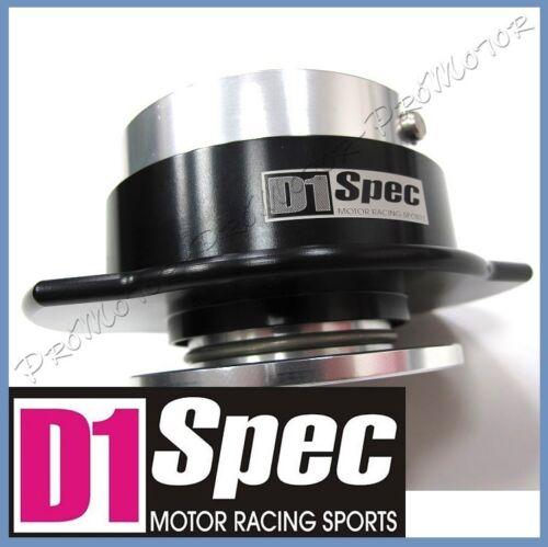 D1 SPEC 1 Gen Ball Lock System AUTHENTIC BLACK HUB Steering Wheel Quick Release