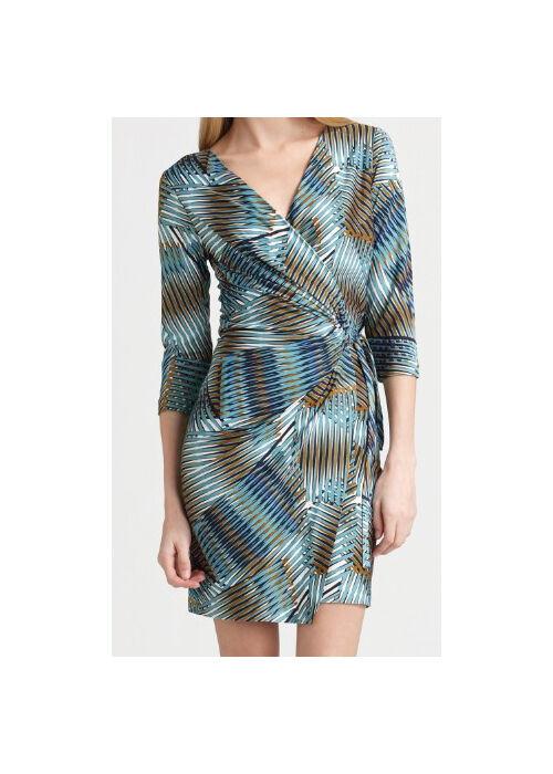 New Diane von Furstenberg EVRIN wrap dress in  Sand Palms  Größe 10