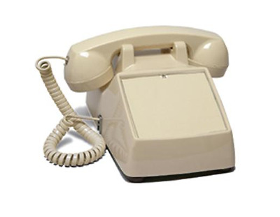 No Dialpad No Dial Receive-Only Desktop Phone with Ringer RED