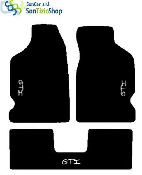RENAULT 4 bianco 4 Block Compatibili! TAPPETI RENAULT R4 su Misura RICAMO
