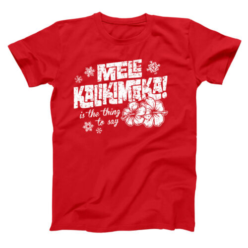 Shirt 204 Mele Kalikimaka Funny Hawaii Christmas Griswold LONG SLEEVE  Men/'s T