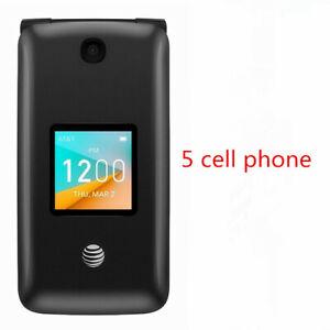5PCS-Alcatel-4044O-GO-FLIP2-AT-amp-T-gray-2-8-034-Wifi-4G-LTE-Unlocked-GSM-Flip-phone