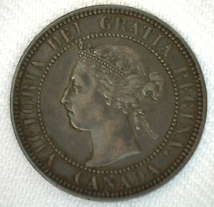 1901-Canada-One-Cent-Coin-1c-Bronze-Very-Fine