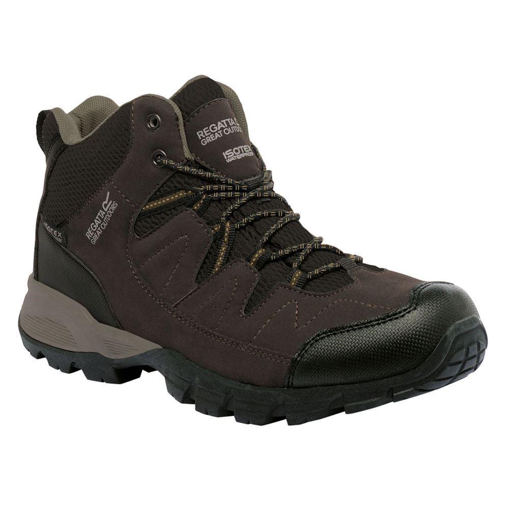 Regatta Herren Mid Schuhe Wandern Holcombe Mid Herren Außen Wasserfeste Wanderstiefel Torf 964ba1