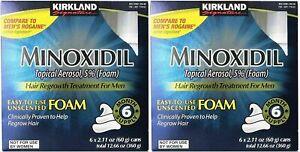 Kirkland Minoxidil5% Hair Loss Foam Ships Worldwide, Long Exp Date
