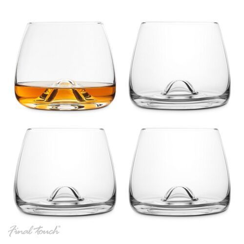 Final Touch 100/% Lead-free Crystal WHISKY GLASSES Drinking Set With DuraSHIELD