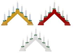 Natale-Natale-Decorazione-da-finestra-ad-arco-in-Legno-Candela-Ponte-Luce-Decor-7-Lampadine