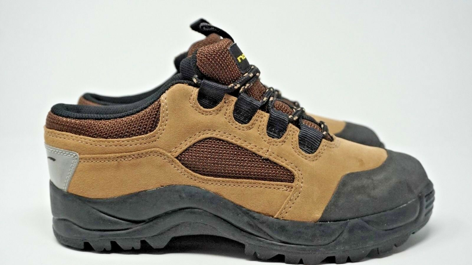 Nashbar Mens Cycle shoes Brown Suede Fabric Size 8.5M Free