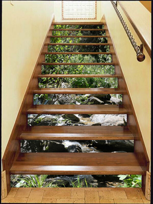 3D Stein Baum 46 Stair Risers Dekoration Fototapete Vinyl Aufkleber Tapete DE