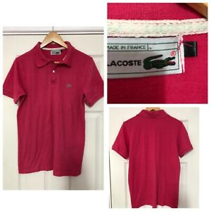 Lacoste-Pink-T-Shirt-Mens-Size-M-Polo-Neck-Short-Sleeve-C296