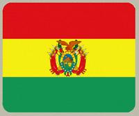 "Blanket Fleece Throw National Flag Bolivia 50""x60"" NEW with protective sleeve"