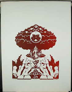 With Gapin to The 1975 Psychedelic Indo-New Age Poster 25 5/8in