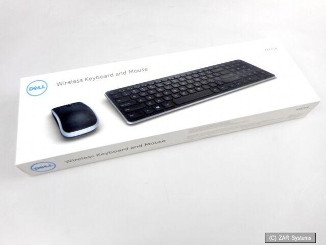 Dell KM714 Wireless Tastatur und Maus Set Nordic Layout (QWERTY) drahtlos, black
