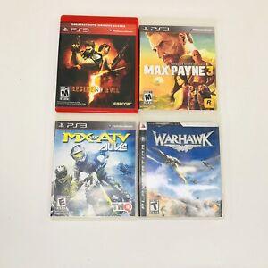 Resident-Evil-5-Max-Payne-3-Warhawk-MX-Vs-ATV-Alive-Sony-PlayStation-3-PS3-Lot